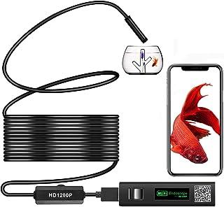 良いおすすめワイヤレス内視鏡カメラUSBwifi接続1200P超高品質スマートフォン..と2021のレビュー