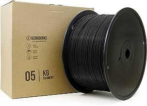 Gizmo Dorks ABS Filament for 3D Printers 3mm (2.85mm) 5kg, Black