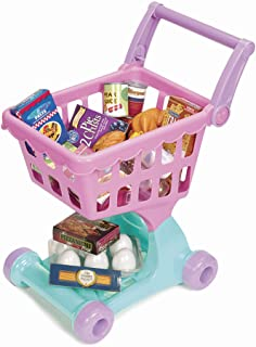 Play Circle by Battat – Pink Shopping Day Grocery Cart – Toy Shopping Cart with Pretend Play Food Items – Realistic Kitche...