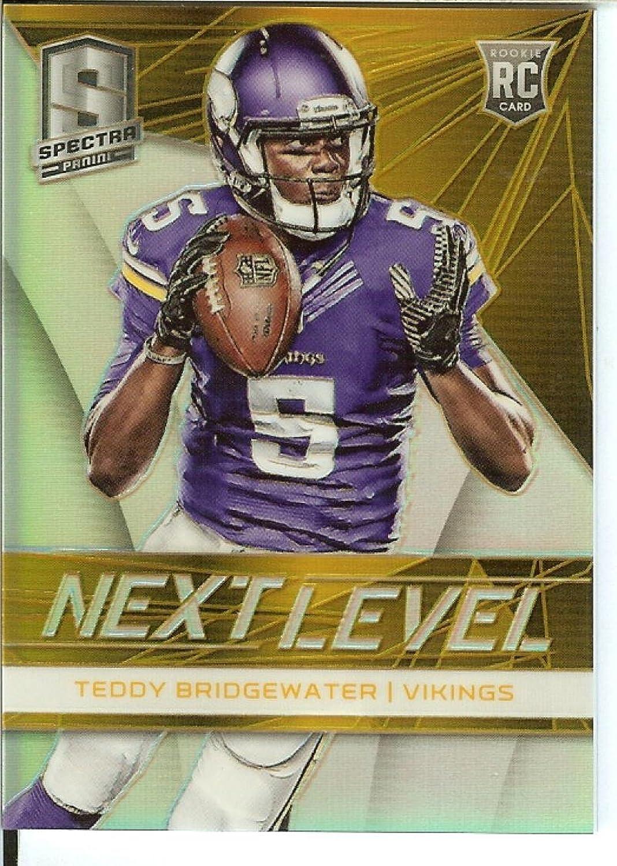 Football NFL 2014 Spectra Next Level gold Prizm  16 Teddy Bridgewater 10 25 Vikings