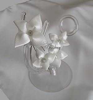 Forcine per capelli sposa colore bianco satinato