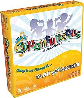 Spontuneous - بازی آهنگ - آن را بخوانید و یا آن را فریاد بزنید - استعداد مورد نیاز نیست (بهترین بازی های خانوادگی / خانوادگی برای کودکان و نوجوانان، نوجوانان، بزرگسالان - پسر و دختران سنین 8 و بالا)، زرد