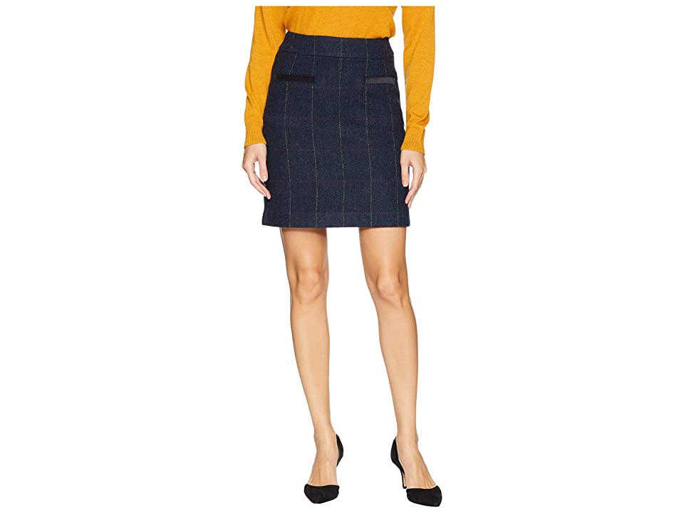 Joules Sheridan Tweed Skirt (Navy Tweed) Women