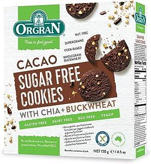 Orgran Gluten Free Sugar Free Cacao Cookies 130 g