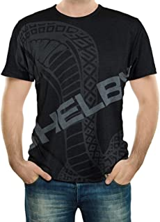 Shelby Enlarged Super Snake Black Tee T-Shirt | Officialy Licensed Shelby Product | 100% Cotton