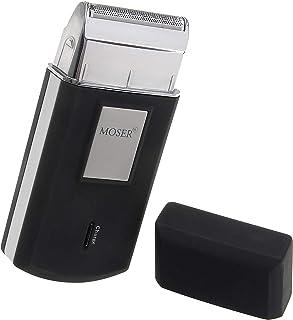 Moser Travel Shaver, Black & Silver [3615-0052]