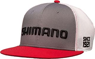 SHIMANO Q3 Proflex Fitted, Flatbill Hat (L/XL, Grey)