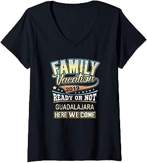 Womens Guadalajara Family Vacation 2019  V-Neck T-Shirt