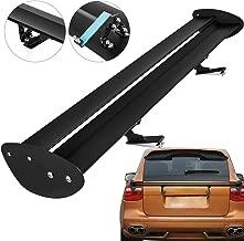 Mophorn Universal GT Wing Spoiler 43 Inch Adjustable Angle Lightweight Aluminum Rear Spoiler Wing Black Single Deck