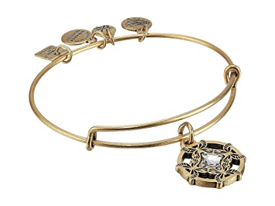 Alex and Ani Charity By Design, Wings of Change II Charm Bangle (Rafaelian Gold) Bracelet