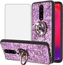 BestShare for Xiaomi Mi 9T / 9T Pro/Redmi K20 / K20 Pro Case with Screen Protector, Bling Glitter Crystal Back Rubber Bumper Shockproof Kickstand Cover for Girls, Purple