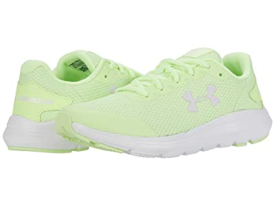 Under Armour Kids Surge 2 (Big Kid) (Lime Fizz/White/Crystal Lilac) Kid