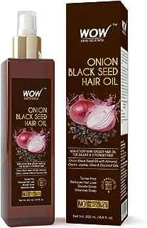 WOW Onion Black Seed Hair Oil - Promotes Hair Growth - Controls Hair Fall - No Mineral Oil & Silicones - 200mL