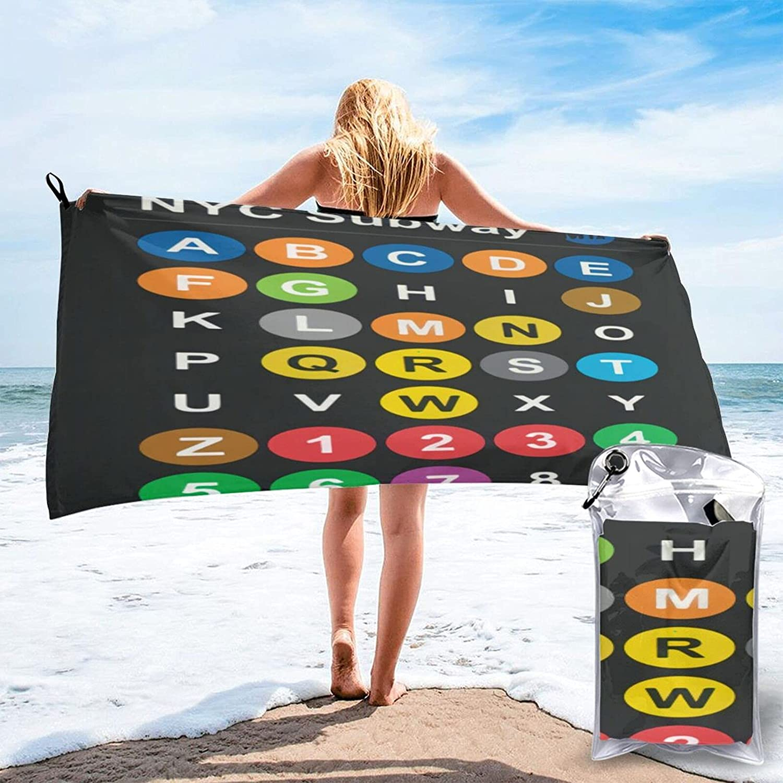 City Subway Kansas City Mall Alphabet map Microfibre Qui Pool Towels Beach Spasm price Travel