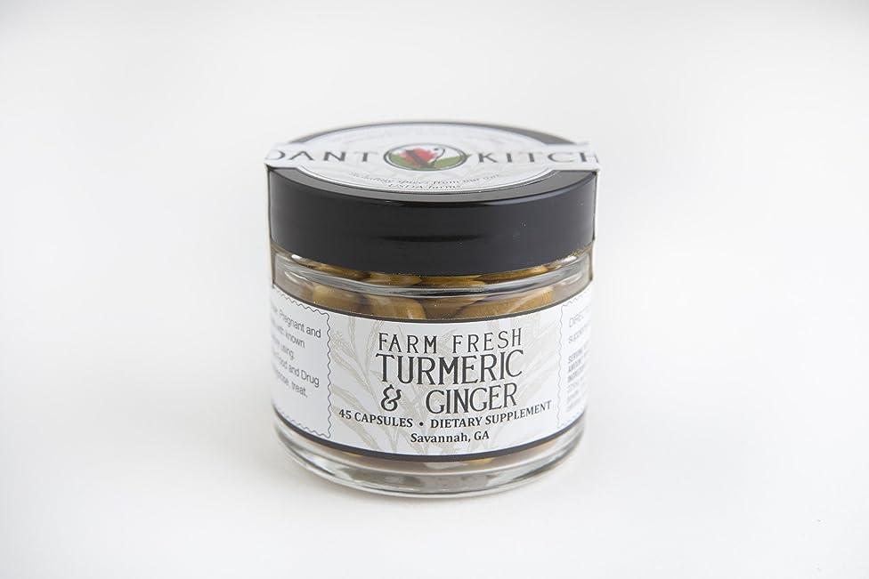 Verdant Kitchen Farm Fresh Turmeric & Ginger Capsules 45