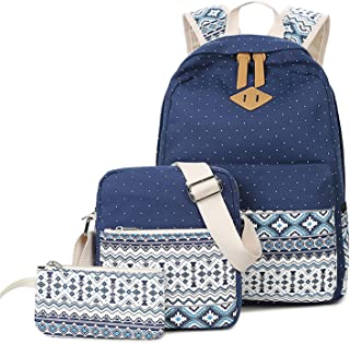 Casual canvas rugzak schoolrugzak set + schoudertas + portemonnee/mapje casual rugzak daypacks vrijetijdsrugzak backpack v...