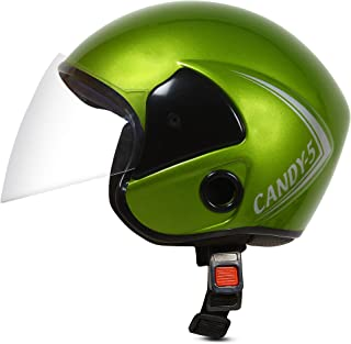 ACTIVE CANDY 5 Open Face Face Helmet for Kids from 3 to 6 Years (GREEN, Size-Extra Small) (GREEN)