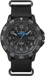 Timex Men's TW4B03500 Expedition Gallatin Black/Blue Nylon Slip-Thru Strap Watch