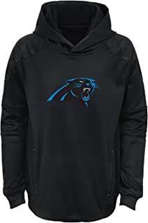 Carolina Panthers Youth Black Primary Logo Performance Pullover Hoodie