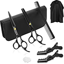Peradix Hairdressing Scissors 9 in 1 Set, Professional Hair Cutting Scissors with Thinning Scissors, Comb, Shawl, Hair Cli...
