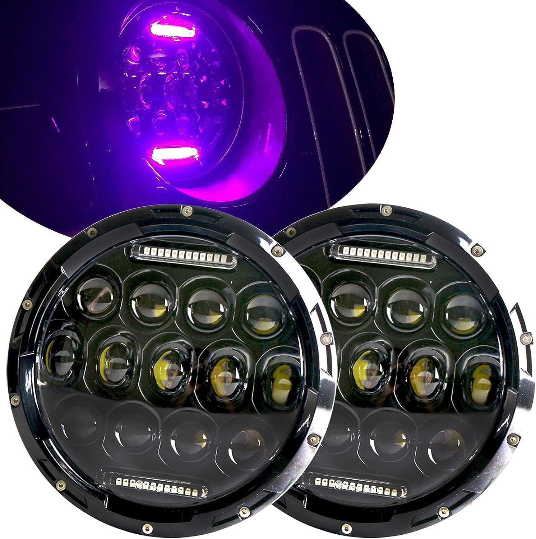 7/'/' Round LED Headlights For Jeep Wrangler Custom Unlimited Sport JK JL TJ LJ CJ