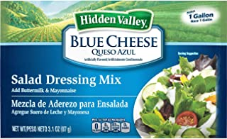 Hidden Valley Blue Cheese Dressing Dry Mix, (3.1 Ounce) 18 packets