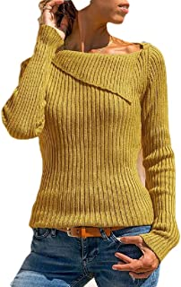 Macondoo Womens Fashion Jumper Stretchy Knit Pullover Slim Sweaters