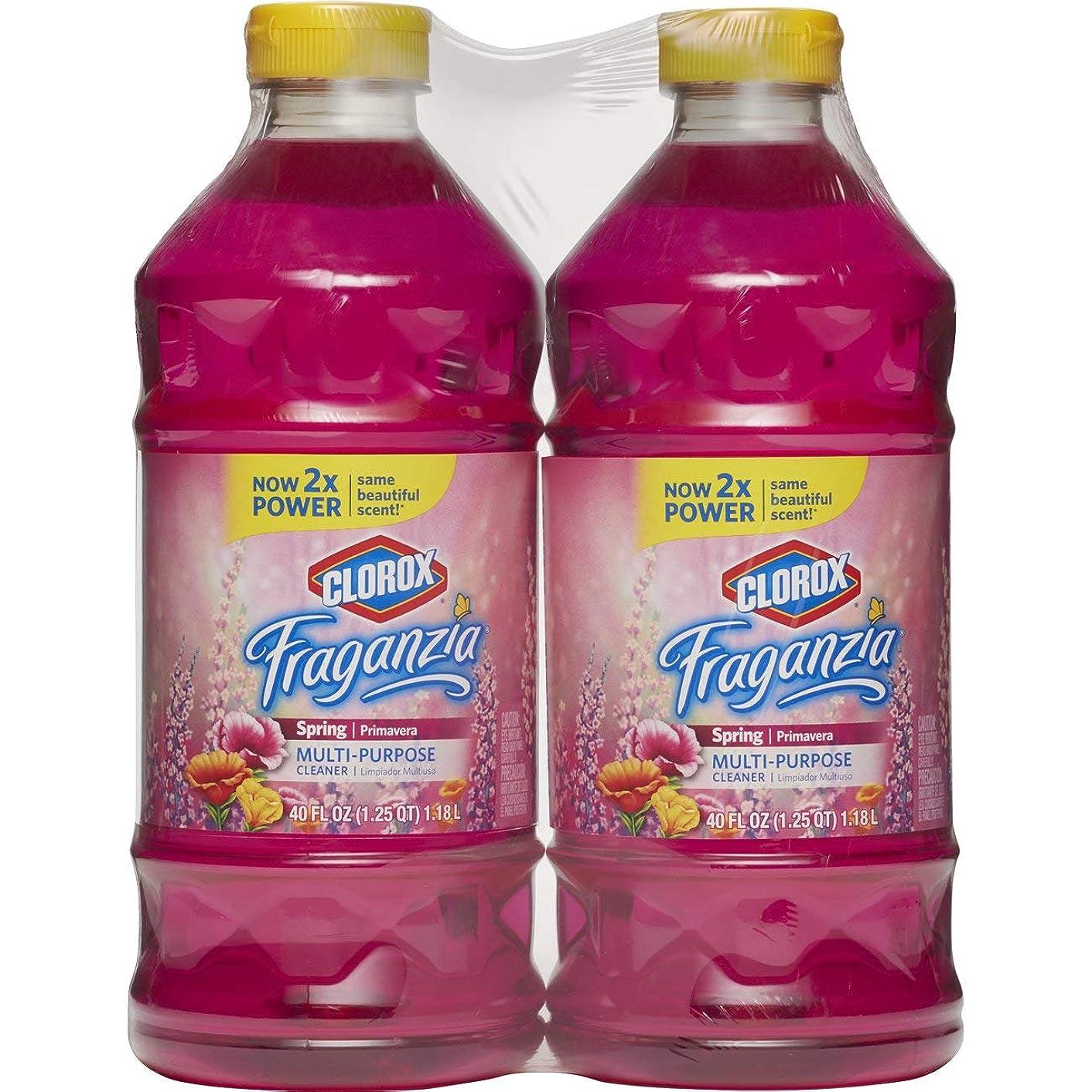 Clorox? Fraganzia? Multi-Purpose Cleaner, Spring Scent, Two 40 Fl. Oz Bottles (80 fl oz total)
