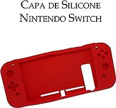 Capa De Silicone Protetora Para Console Nintendo Switch - Vermelho