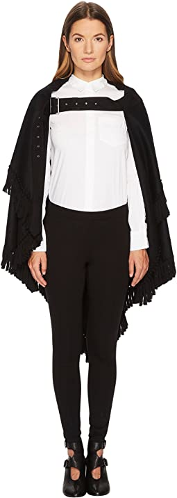 K-Belt Cape Flannel and Fringe Cape
