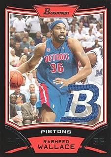 2008-09 Bowman Relics Basketball #BR-RW Rasheed Wallace Jersey Detroit Pistons