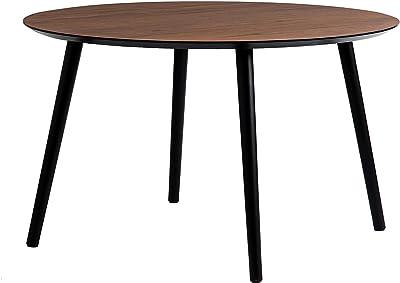 Aspect Amy Table Basse Vintage en Noyer Pieds Noirs 80 x 47 cm