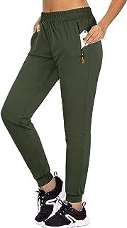 Ninedaily Womens Joggers Yoga Pants Running Lightweight Zipper Pockets Athletic