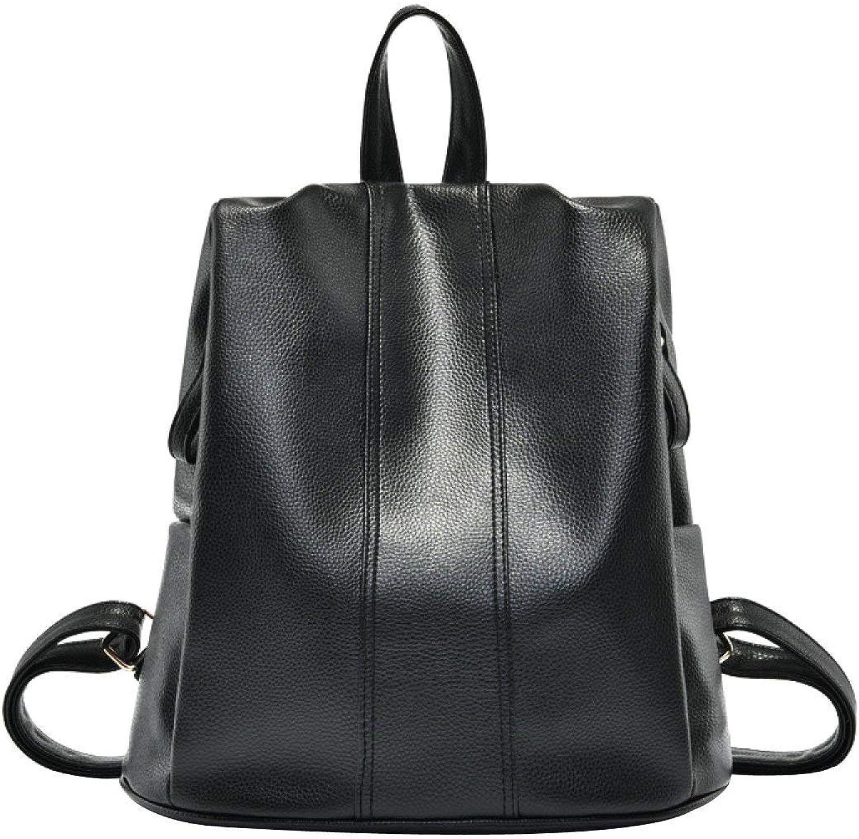 Rucksack, Frauen Vintage Umhängetasche College Rucksack PU Leder Rucksack Reisetasche (Farbe   schwarz, Größe   M) B07PY7QJW7  Qualität zuerst