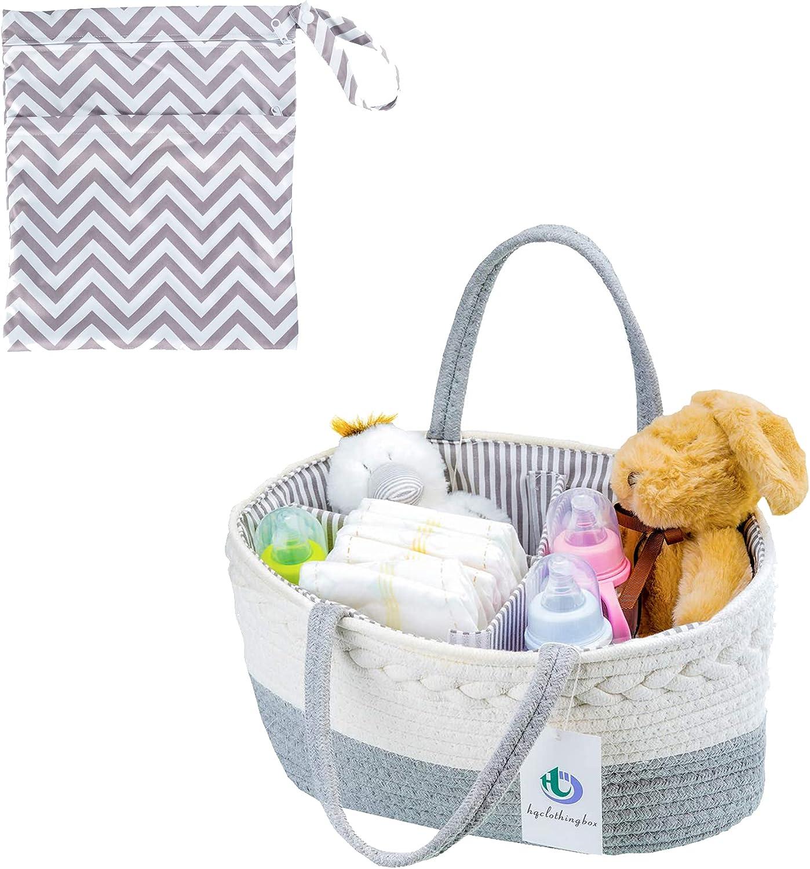 Bargain sale Luxury Care Baby Diaper Caddy Organizer Nursery B Rope - Storage Choice