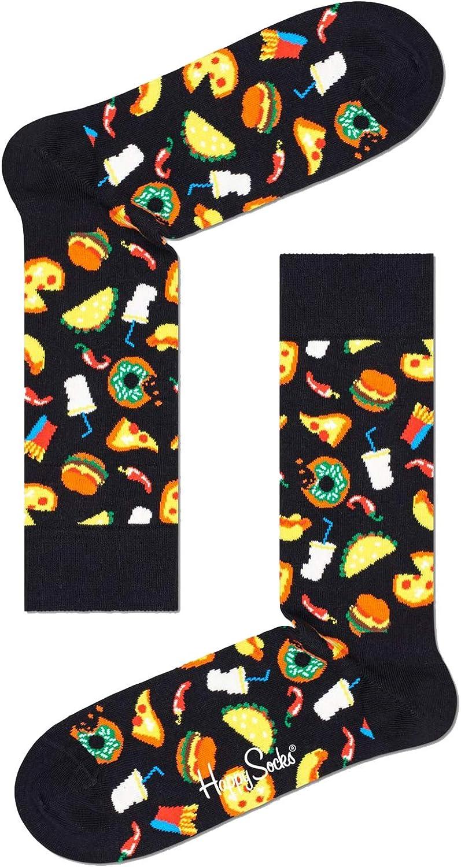 Happy Socks Unisex Printed Junk Food Combed Cotton Socks