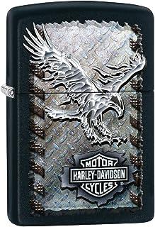 ZIPPO ジッポー 28485 HARLEY DAVIDSON EAGLE ハーレーダビッドソン イーグル Black Matte マットブラック FULL SIZE ZIPPO LIGHTER ジッポライター [並行輸入品]