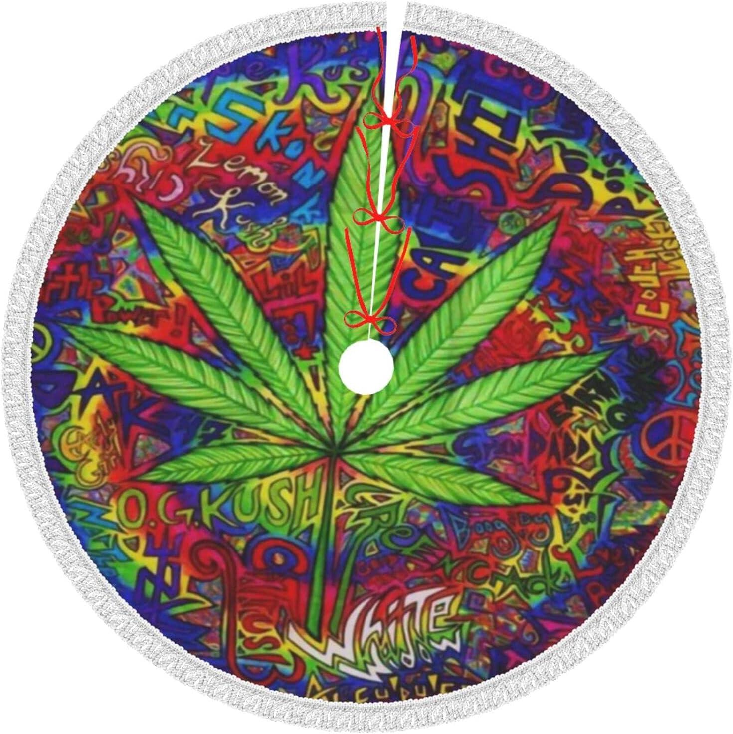 Psychedelic Marijuana Leaf Weed Max 81% OFF Tie Or Tree Dye Skirt Max 79% OFF Christmas