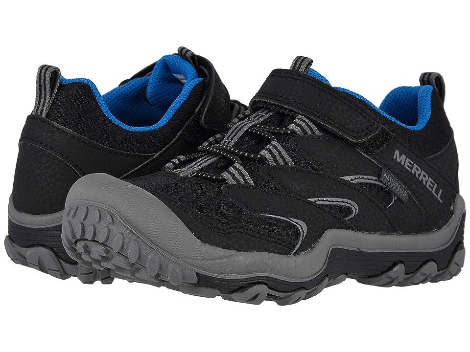 Merrell Kids Chameleon 7 Access Low A/C Waterproof (Little Kid) (Black) Boys Shoes