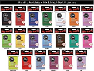 600 Ultra Pro PRO-MATTE Deck Protectors MIX & MATCH (12x 50ct Packs) Sleeves Standard MTG Size Black, Blue, Red, Etc. Your Choice from 16 Available Colors!