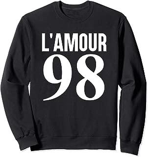 French Slogan L'Amour 98 Graphic Sweatshirt