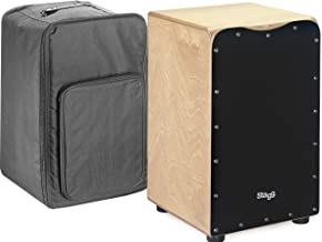 Stagg CAJ-50M BK Medium Sized Cajon with Gig Bag-Black