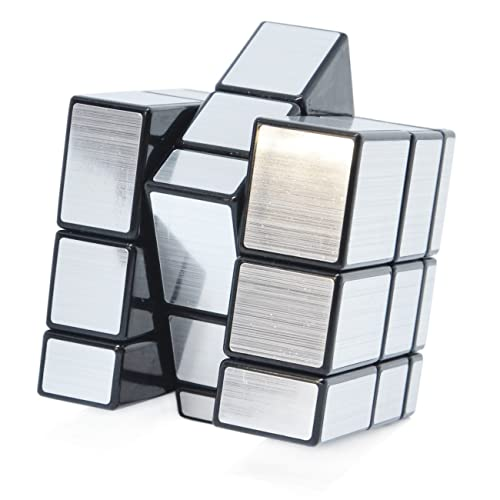 Maomaoyu Mirror Cube 3x3 3x3x3 Smooth Magic Cube Puzzle Education Toys for Kid (Silver)