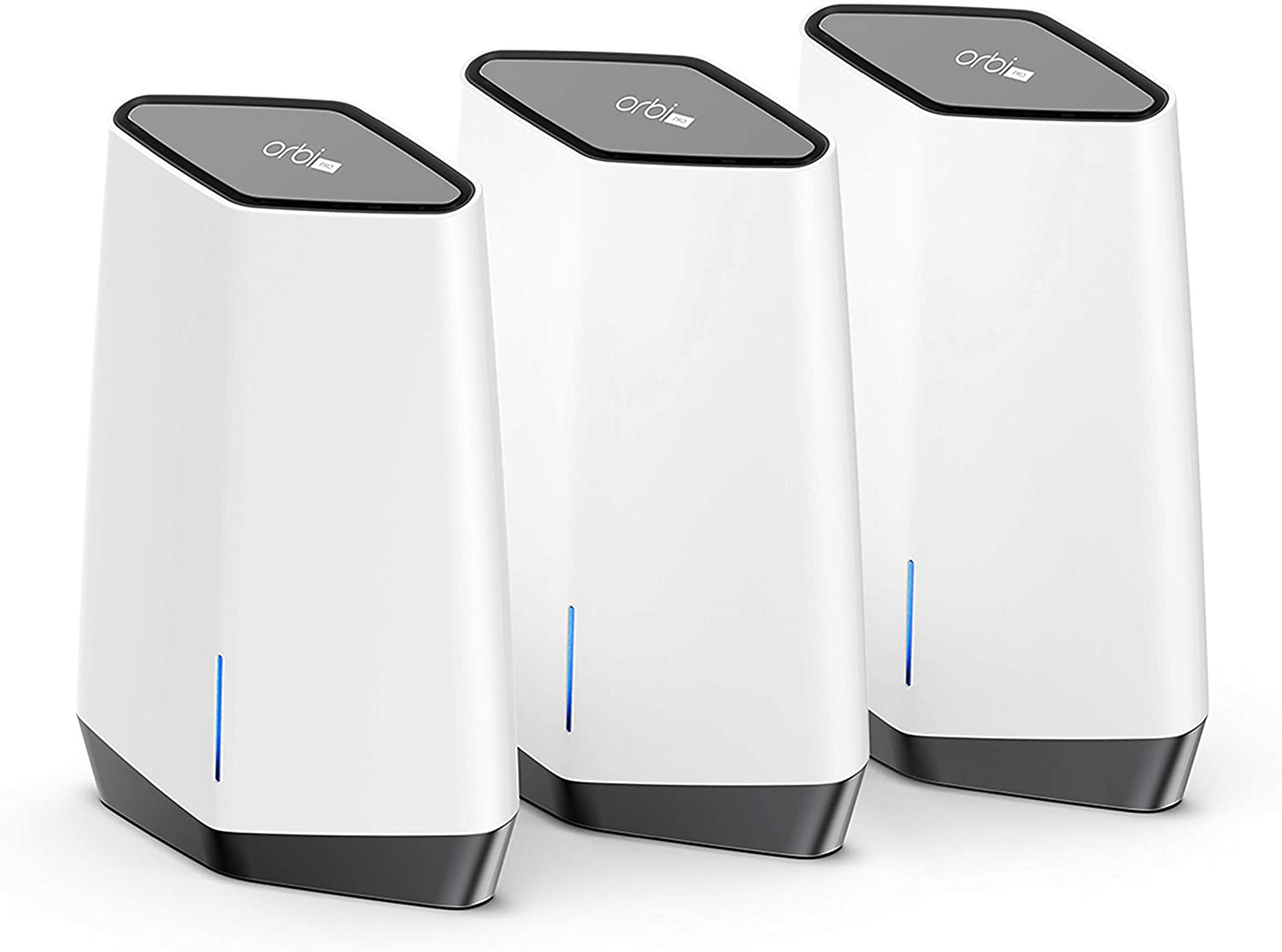 NETGEAR Orbi Pro WiFi 6 Tri-band Mesh System for Business or Home (SXK80B3) - Router with 2 Satellite Extenders | 4 SSIDs, VLAN, QoS | Coverage up to 9,000 sq. ft., 80 Devices | AX6000 (Up to 6Gbps)
