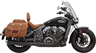 18-19 INDIAN SCOUTBOB: Bassani Xhaust Road Rage 2-Into-1 Exhaust With Megaphone Muffler (Black/Long)