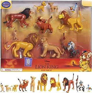 Le Rey Leon - Juego de 10 Figuras con Simba, Nala, Pumbaa, Timon, Rafiki, Zazu, Mufasa, Scar, Hyena, Vulture, Juguete para...