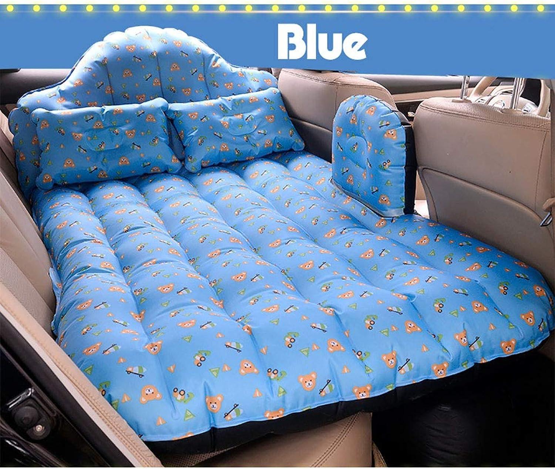 Auto Reise Bett Luftmatratze SUV Auto Aufblasbare Rücksitzkissen Outdoor Tragbare Bewegliche Klappbett Zelt Camping Schlafmatte (Farbe   C)