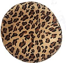 CRIZAN Women's Fashion Summer Vintage Leopard Print Beret Beanie Cap Hat Girls Lady Black