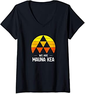 Womens We Are Mauna Kea V-Neck T-Shirt