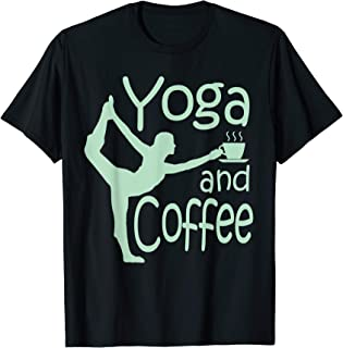 yoga for women with sayings yoga and coffee T-Shirt